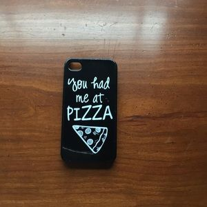 """Accessories - Cute """"you had me at pizza"""" iPhone 4 case"""